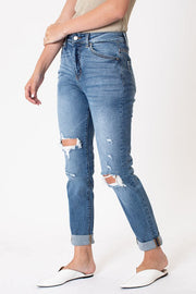 Kancan 8403 High Rise Distressed Mom Jeans