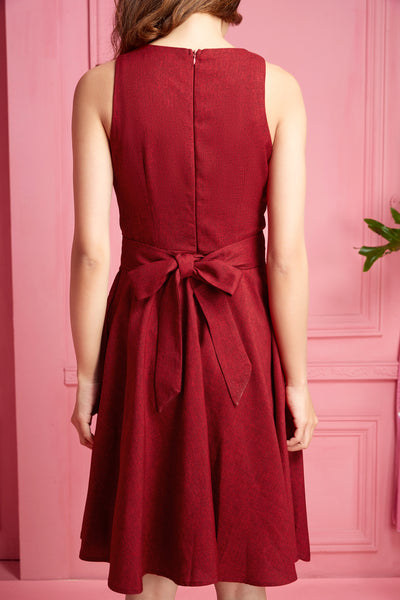 Maroon Ribbon Dress