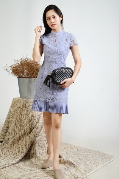Isa Lace pleated dress