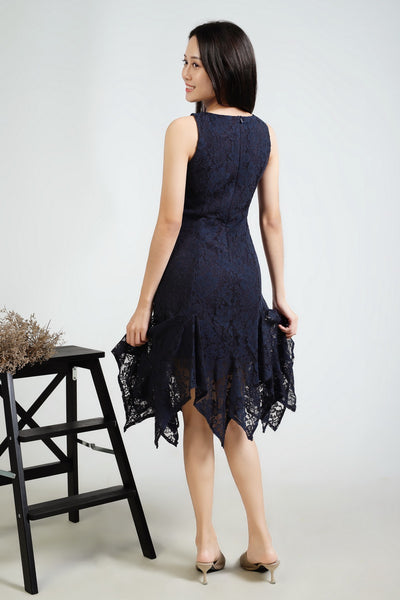 Hiqi Asymmetrical Lace Dress