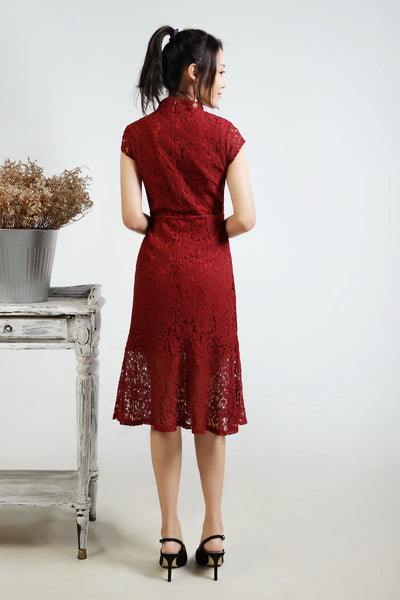 Arini Cheongsam Lace Dress