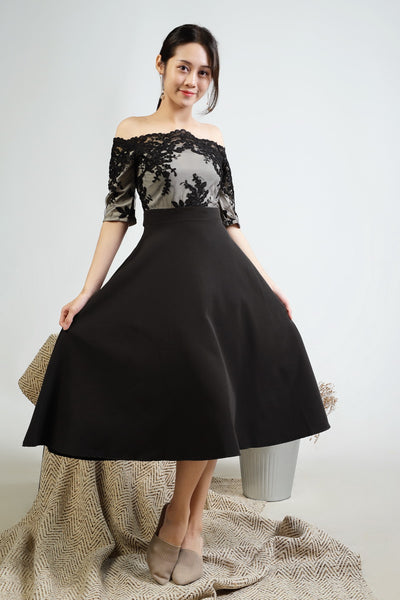 Milla off shoulder lace dress