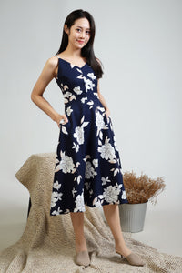 Eve Floral Spag Dress