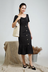 Jolie Button Midi Dress