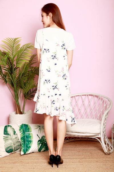 *DJ* Lilly Floral two-piece pinafore set