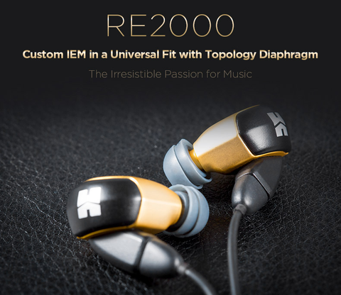 RE2000 Custom IEM in a Universal Fit with Topology Diaphragm