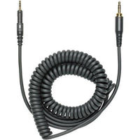 Audio-Technica HP-CC Replacement Cable for ATH-M40x and ATH-M50x Headphones (Black, Coiled) - Audio46