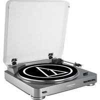 Audio-Technica - AT-LP60 Fully Automatic Stereo Turntable System, Silver