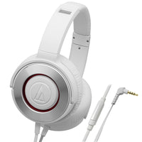 Audio-Technica - WS550iS White - Solid Bass with In-Line volume Controls