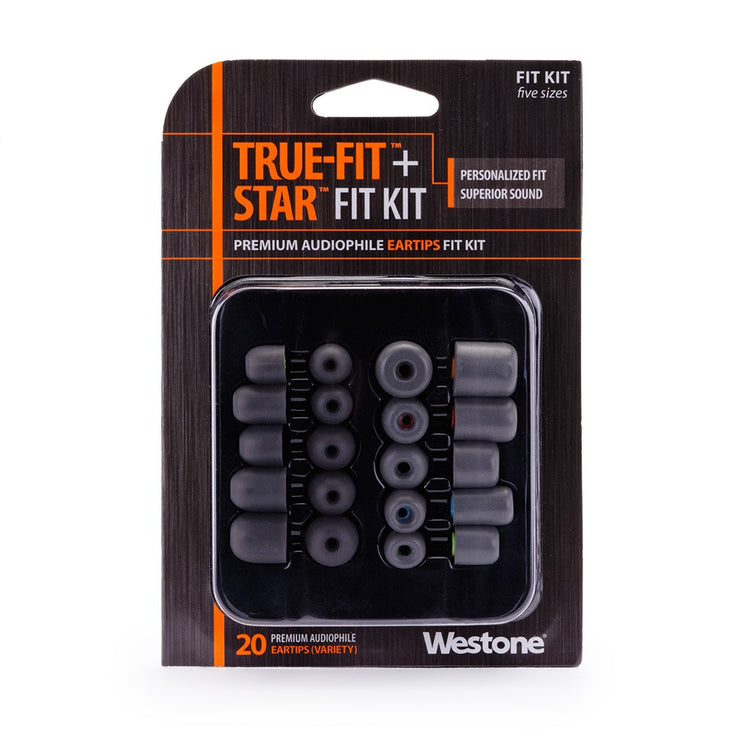 Westone - True-Fit Foam & Star Silicone Eartips - 10 Pair Pack, Fit Kit with Multiple Sizes