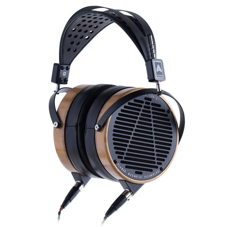 Audeze LCD-2 - High Performance Planar Magnetic Headphone (Rosewood-Leather Free)