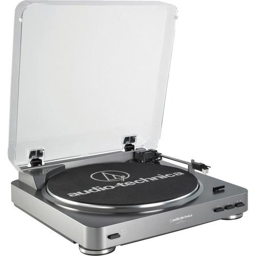 Audio-Technica Consumer AT-LP60USB Fully Automatic Belt-Drive Turntable (Silver) - Audio46
