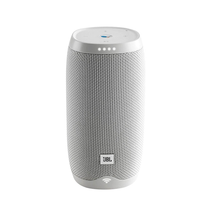 JBL - LINK 10 Smart Portable Bluetooth Speaker with the Google Assistant built in - White - Audio46