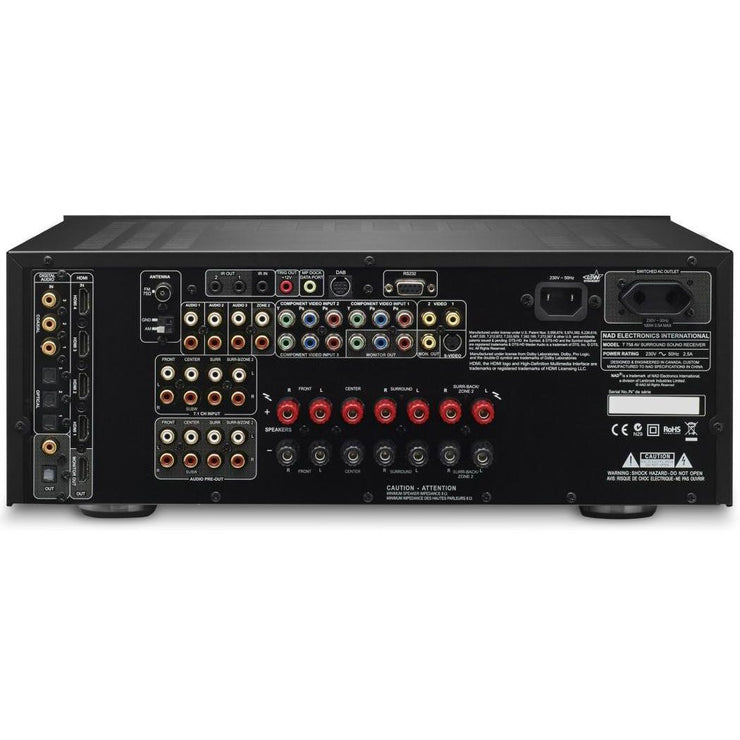NAD Electronics - T 758 A/V Surround Sound Receiver *Refurbished*