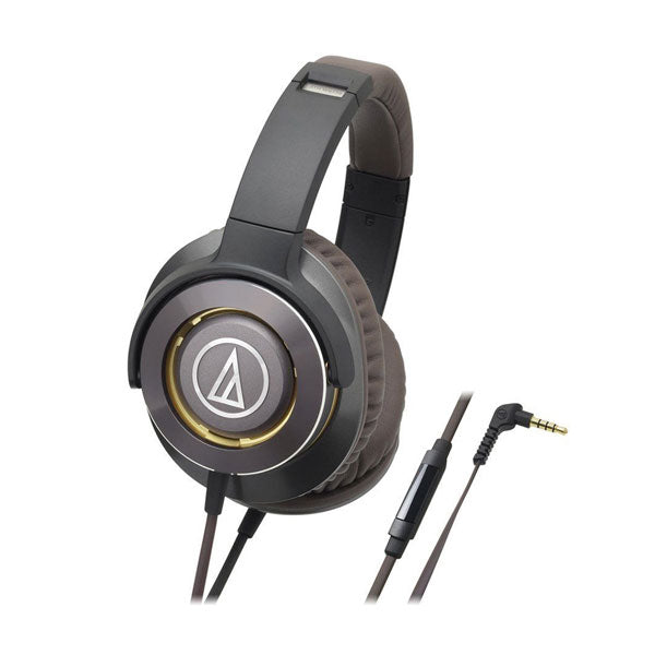 Audio-Technica - ATH-WS770iS Gunmetal Solid Bass Headphones