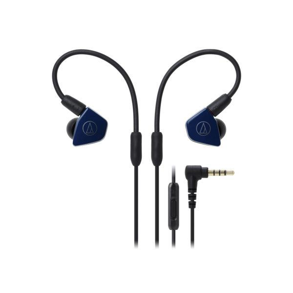 Audio-technica ATH-LS50iSNV Navy Earphones - Audio46