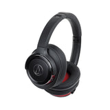 Audio-Technica ATH-WS660BT SOLID BASS Wireless Headphones Black/Red - Audio46