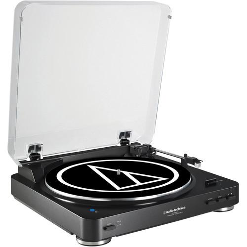 Audio-Technica AT-LP60BK-BT Turntable with Bluetooth (Black) - Audio46