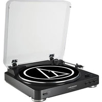 Audio-Technica Consumer AT-LP60 Fully Automatic Belt-Drive Turntable (Black) - Audio46