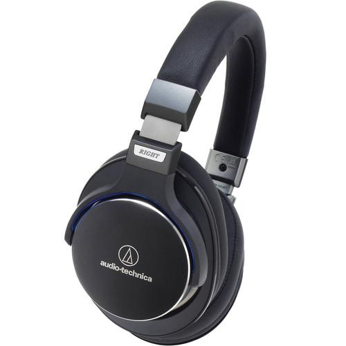 Audio-Technica ATH-MSR7 Black High Resolution Over-Ear Headphones - Audio46