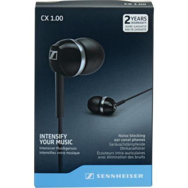 Sennheiser CX 1.00 In- Ear Headphones Black - Audio46