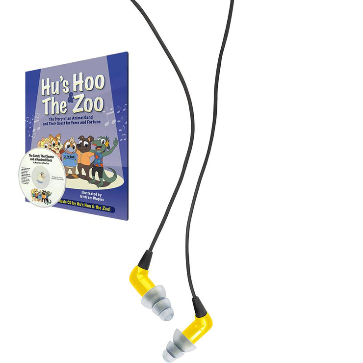 Etymotic - ETY Kids 5 In‑Ear Earphones with Hu's Hoo and The Zoo Book/CD Bundle