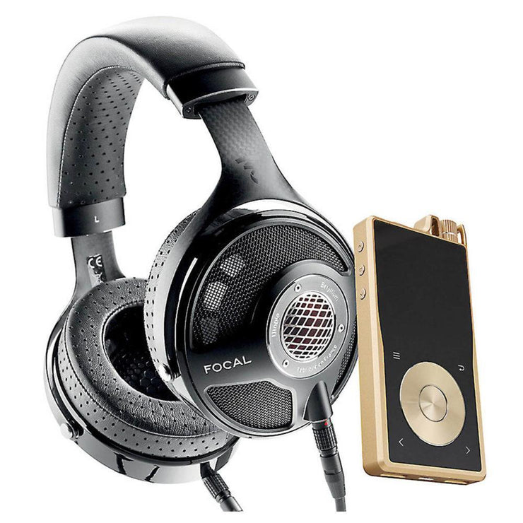 Focal and Questyle - Utopia Headphones with QP2R Portable Player Bundle Gold (Open box)