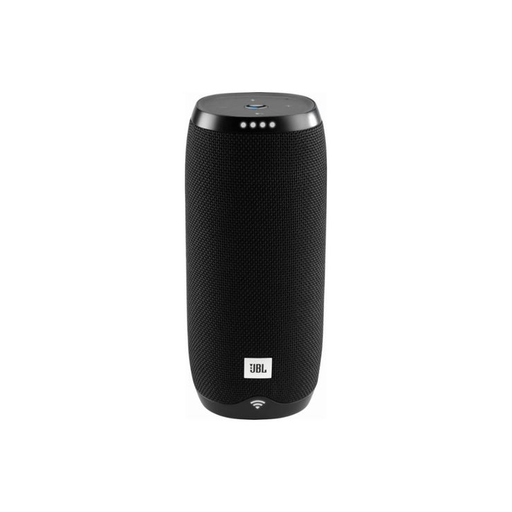 JBL - LINK 20 Smart Portable Bluetooth Speaker with the Google Assistant built in - Black - Audio46