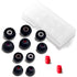 Final Audio - Black+Black/Red Silicon Type E Tips kit with Case and Nozzle Adapter
