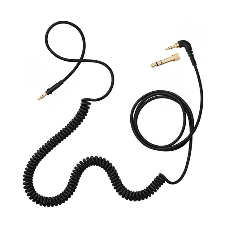 AIAIAI - C04 - Coiled Headphone Cable, Woven - Black - 1.5m