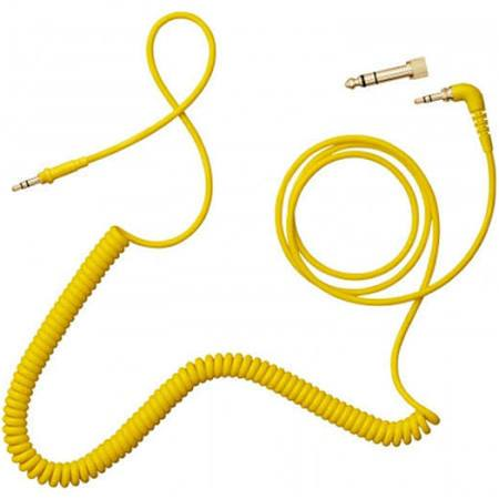 AIAIAI C09 - Coiled w/adaptor - yellow - 4mm - 1.5m - Audio46