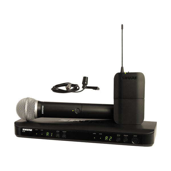 Shure - BLX Wireless Vocal Combo System BLX1288/CVL-J10 - Audio46