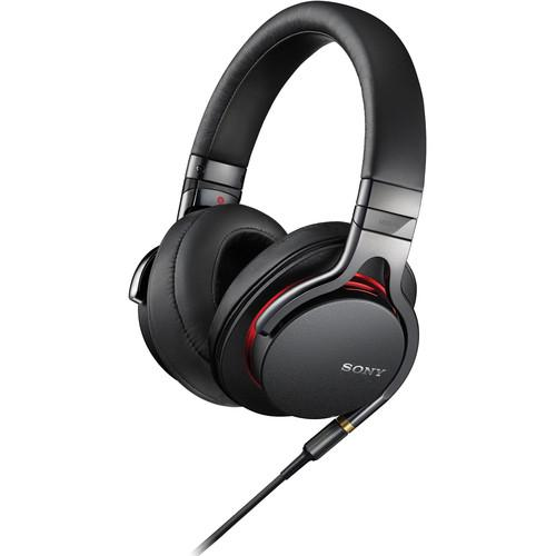 Sony MDR-1A Premium Hi-Res Stereo Headphones (Black) - Audio46