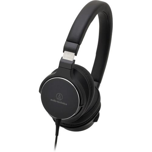 Audio-Technica ATH-SR5BK On-Ear High-Resolution Audio Headphones (Black) - Audio46