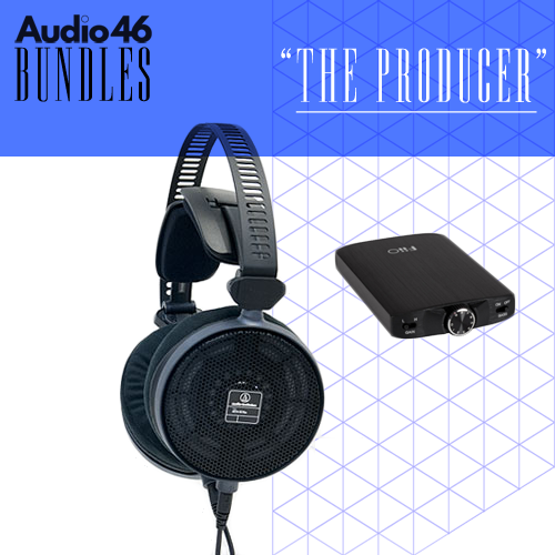 THE PRODUCER - Audio-Technica R70x Open-Back Professional Reference Headphones + FiiO A3 Amp  Bundle - Audio46