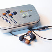 Thinksound ts03+mic Wooden Earbuds Gunmetal Walnut - Audio46