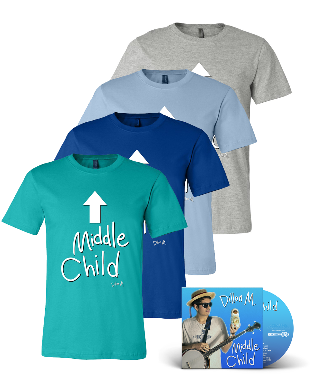 Dillon M. : Middle Child Tee & CD Bundle