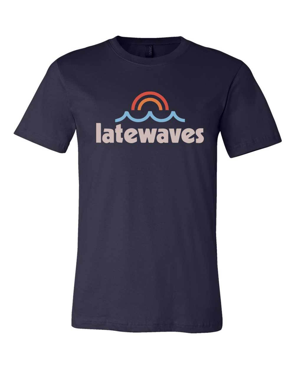 Latewaves : Logo Tee (Navy)