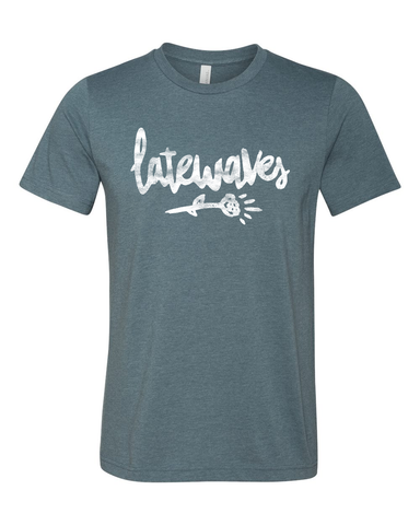 Latewaves : Flower Tee (Heather Slate)