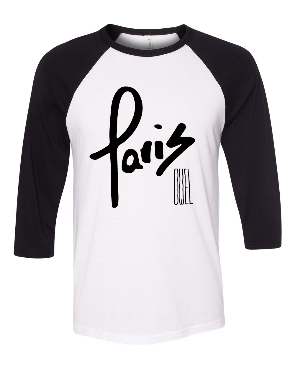 OWEL : Paris 3/4 Sleeve Baseball Tee