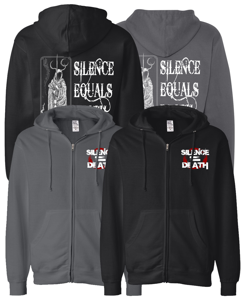 Silence Equals Death : Devil Zip Up