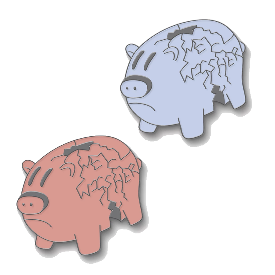 Well Wisher : Enamel Piggy Pin