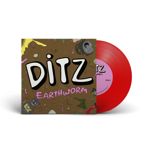 "Ditz : Earthworm 10"" (Red)"
