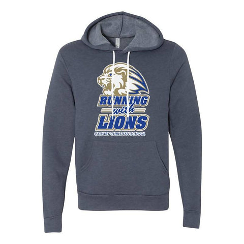 Running With the Lions Hoodie (Blue Heather)