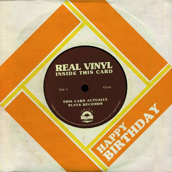 "Recards : Playable 7"" Vinyl ""Happy Birthday"" Greeting Card"