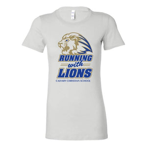 Ladies Running With the Lions Tee (Athletic)