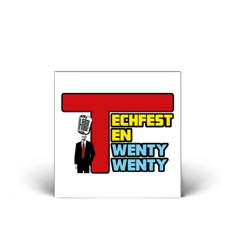 "Tech Fest : TF 2020 Sticker [4""]"