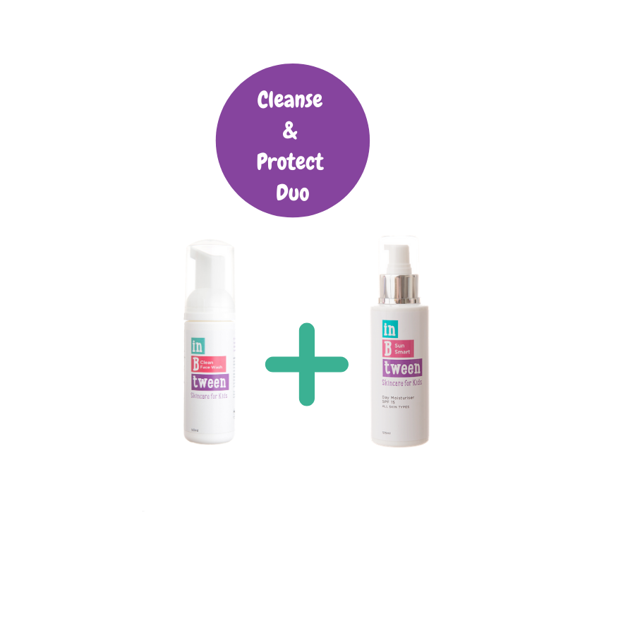 B Clean  & Protected (Face Wash 50ml  + SPF 125ml Twin Pack)