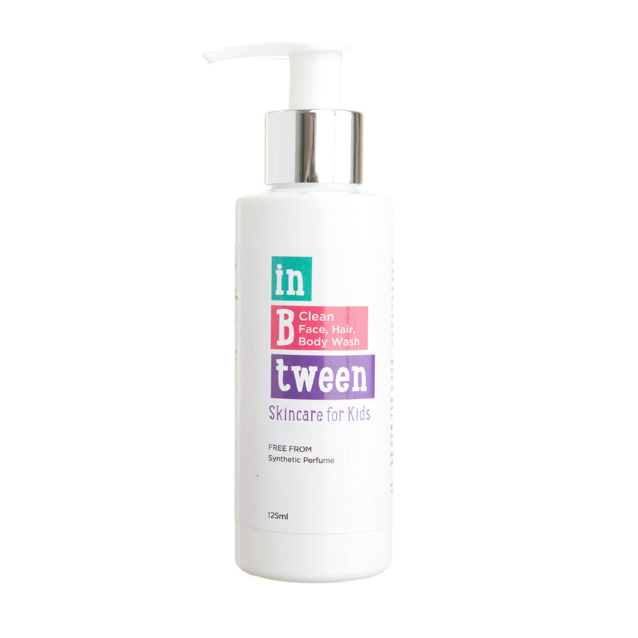 In B Tween Skincare B Clean Face, Hair, Body Wash for kids, tweens and teens