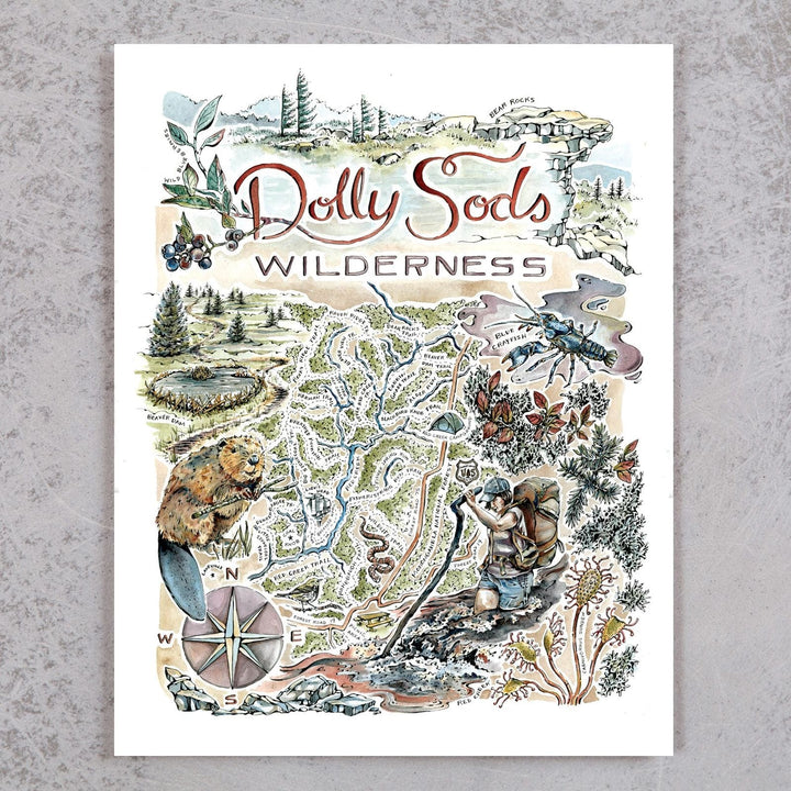 Dolly Sods Map Print